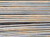 stock photo of reinforcing  - reinforce steel rod texture background - JPG