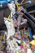 pic of fetus  - Dead baby llamas and llama fetuses for sale in the Witches Market in La Paz Bolivia
