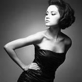 picture of female model  - Black and white art photo - JPG