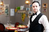 picture of waiter  - Waiter portrait at the restaurant - JPG