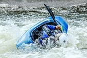 picture of rough-water  - Kayak on whitewater - JPG
