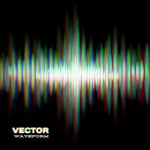 foto of vibrator  - Shiny sound waveform with vibrating light aberrations - JPG