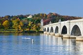 picture of arlington cemetery  - Arlington Memorial Bridge and National Cemetery in Autumn  - JPG