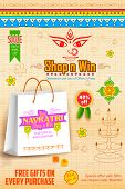 foto of dharma  - illustration of colorful banners for Happy Navratri Offer promotions - JPG