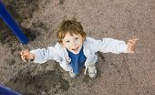 image of little boys only  - little cute boy on playground outside - JPG
