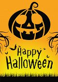 stock photo of happy halloween  - happy Halloween poster for Halloween events and parties - JPG