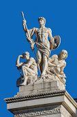 stock photo of emanuele  - Fragment of Vittorio Emanuele monument II in Rome - JPG