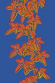 pic of ivy vine  - Sketch illustration of a leafy ivy vine in popart style - JPG