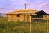 Historic Old Pinoeer House Behind The Fences poster