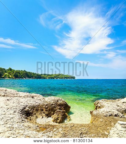 Summer Adriatic Sea Landscape in Croatia