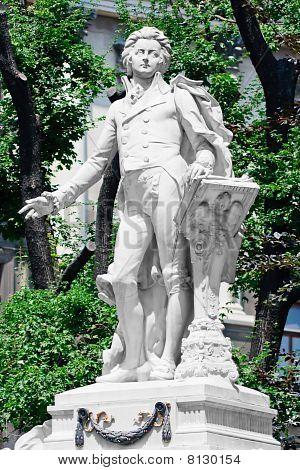Mozart Memorial / Monument In Vienna Burggarten, Austria