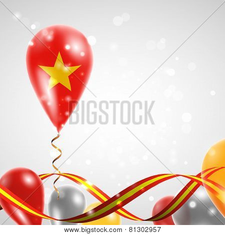 Flag of Vietnam on balloon