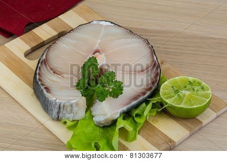 Raw Blue Shark Steak