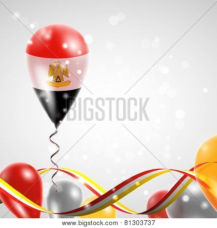 Flag of Egypt on balloon