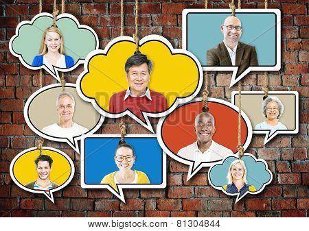 Diverse Diversity Ethnic Ethnicity Symbol Icon Unity Concept