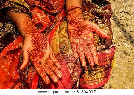 Henna On Brides Hands