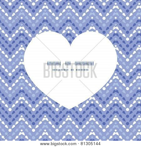 Vector purple drops chevron heart silhouette pattern frame