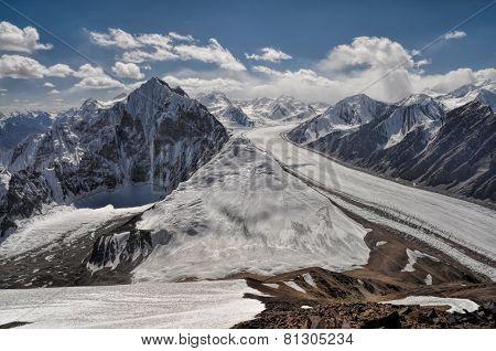 Fedchenko Glacier In Tajikistan