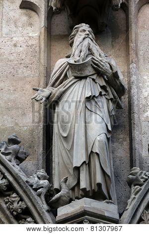 VIENNA, AUSTRIA - OCTOBER 10: Saint Elijah, Votivkirche (The Votive Church). It is a neo-Gothic church in Vienna, Austria on October 10, 2014