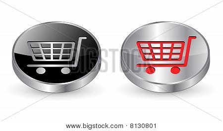Shopping cart, buy icon, button