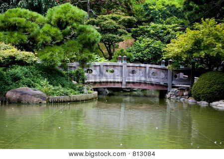 Stone bridge in Japanese Garden