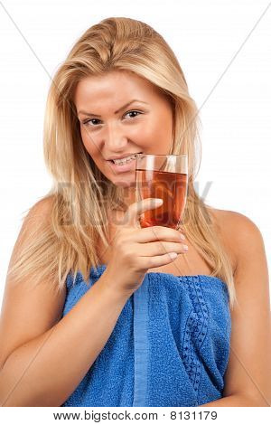 Young Lady Drinking Soda