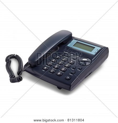 modern business phone isolated white background