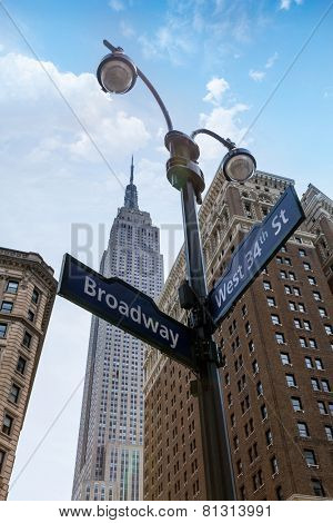 Manhattan New York city Broadway 6th Av downtown NYC US