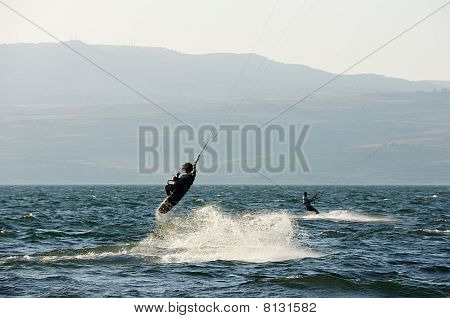 Sky-surfing On Lake Kinneret