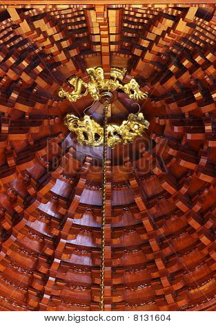 Ceiling Of Chinese Temple