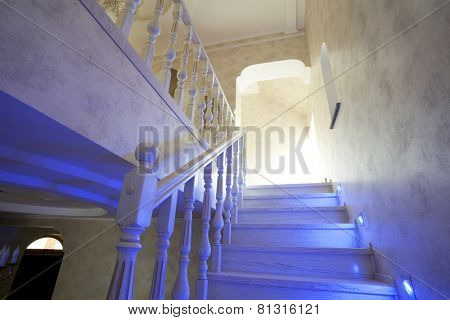Elegant stairway in new home