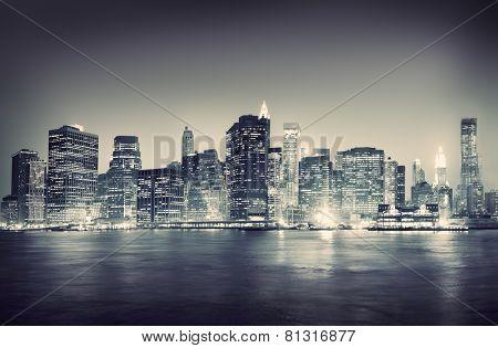 City Scape New York Buildings Travel Concept