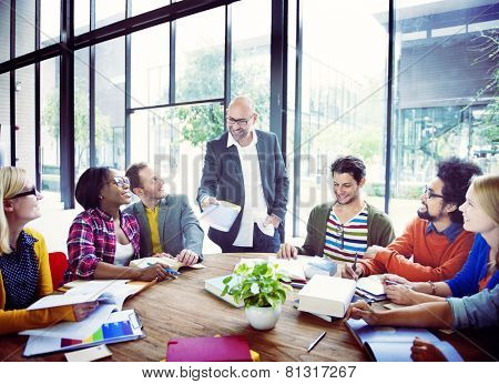 Diverse Casual Business People in a Meeting