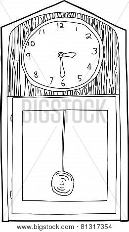 Grandfather Clock Outline
