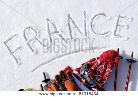 France Ski Background