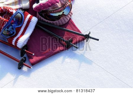 Ski And Snow Background