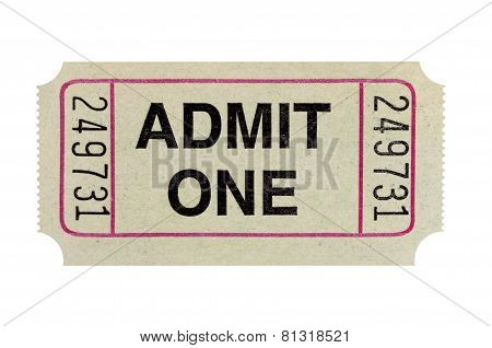 Gray Admission Ticket