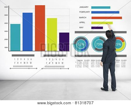 Businessman Strategy Information Design Ideas Vision Concept