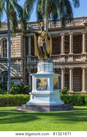 King Kamehameha  Statue, Honolulu.
