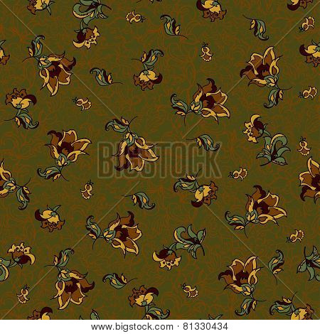 seamless floral textile pattern