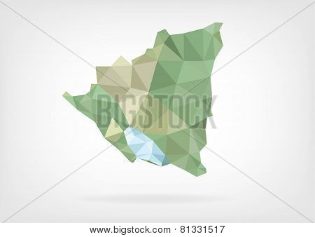 Low Poly map of Nicaragua
