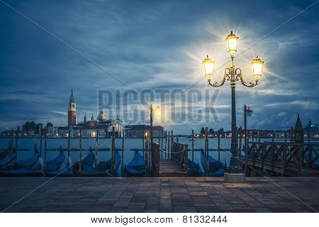 View Of Grand Canal On A Cloudy Day
