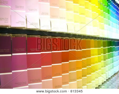 muestras de pintura