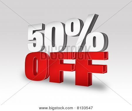 50% Off Sale Discount