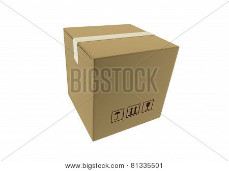 Cardboard Box Package Sealed And Ready For Shipment