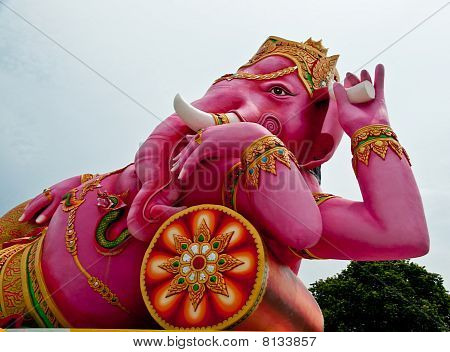The Golden Hindu Elephant God Ganesh
