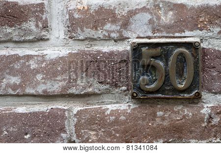 Number 50 Red Bricks