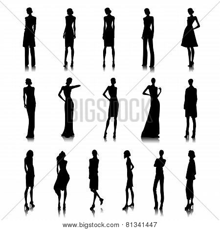 Set Of High Fashion Women