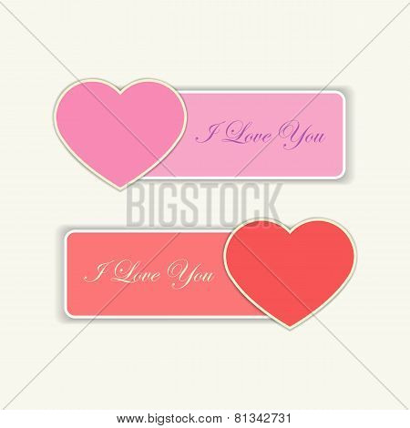 Love Labels With I Love You Text