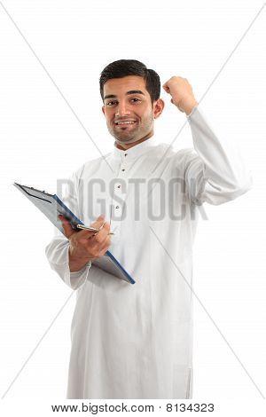 Arab Businessman Victory Success